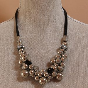 Chunky Bauble and Beads Necklace
