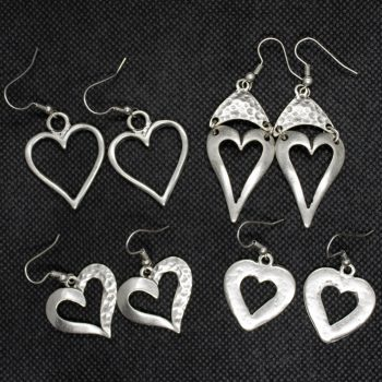 A selection of heart earrings